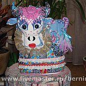 """Для дома и интерьера ручной работы. Ярмарка Мастеров - ручная работа Грелка на чайник """" Голубая корова """". Handmade."""