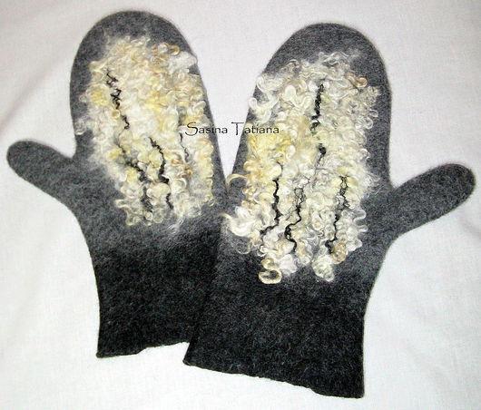 """Варежки, митенки, перчатки ручной работы. Ярмарка Мастеров - ручная работа. Купить Варежки мужские """"Брутальность"""". Handmade. Шерсть"""