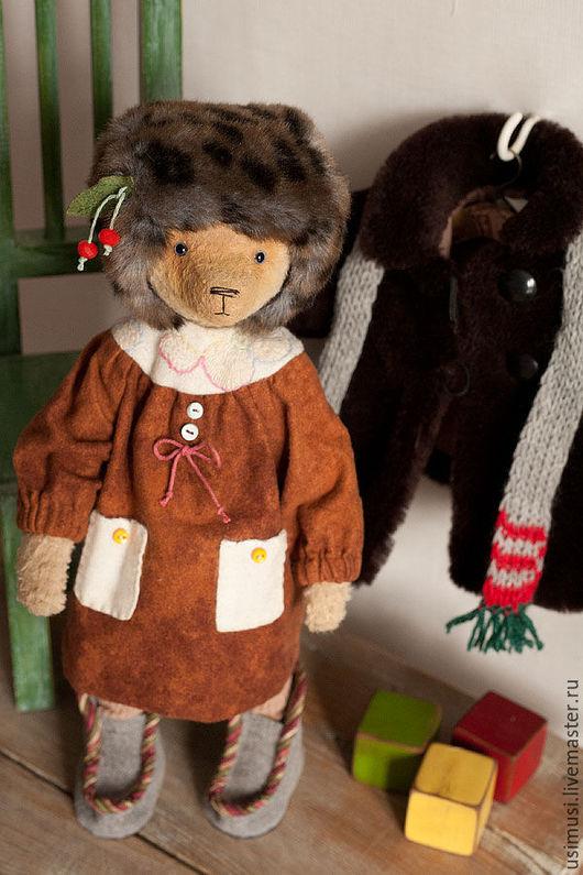 Мишки Тедди ручной работы. Ярмарка Мастеров - ручная работа. Купить Зимняя Светланка. Handmade. Коричневый, зимняя одежда, фланель