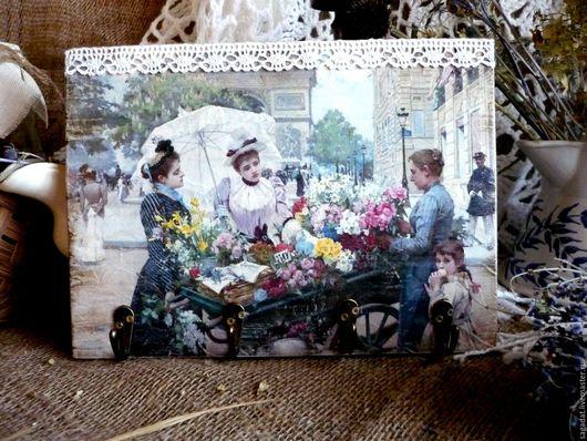 Прихожая ручной работы. Ярмарка Мастеров - ручная работа. Купить Вешалка для зонтов и сумок ,,Цветущий Париж,,. Handmade. Комбинированный, прихожая