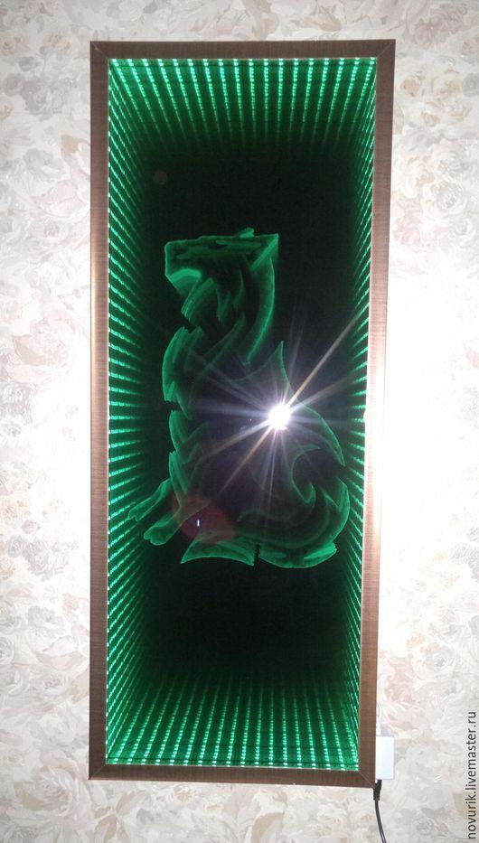 """Абстракция ручной работы. Ярмарка Мастеров - ручная работа. Купить Картина из светодиодов """"Лесной  царь"""". Handmade. Картина для интерьера"""