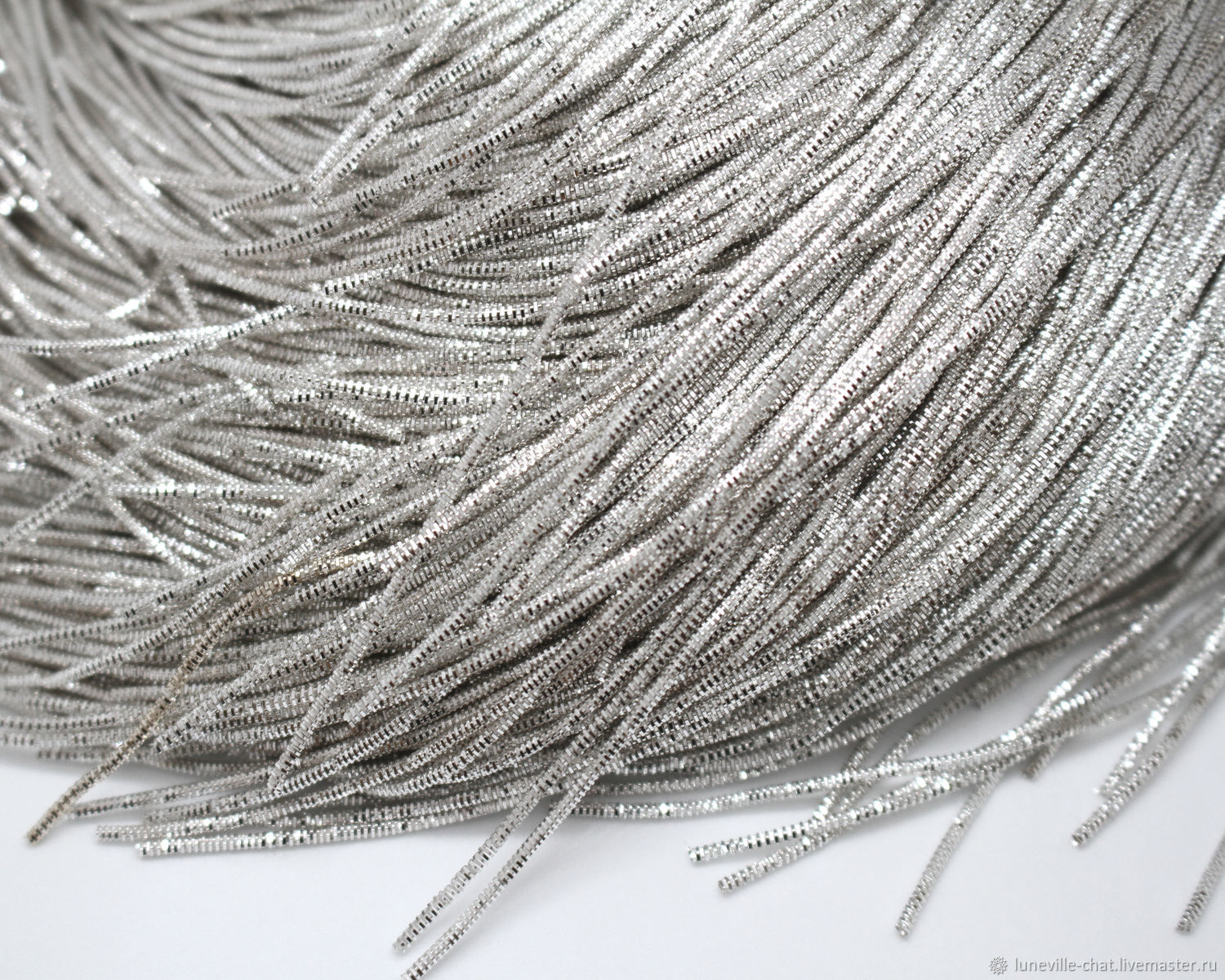 Needlework handmade. Livemaster - handmade. Buy Silver 0,7 mm faceted dance.Silver, french, wire, grey, india