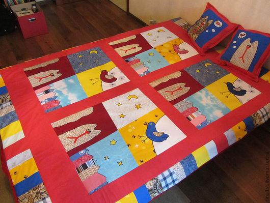 """Текстиль, ковры ручной работы. Ярмарка Мастеров - ручная работа. Купить лоскутное одеяло """"кошачьи грезы"""". Handmade. Лоскутное одеяло"""