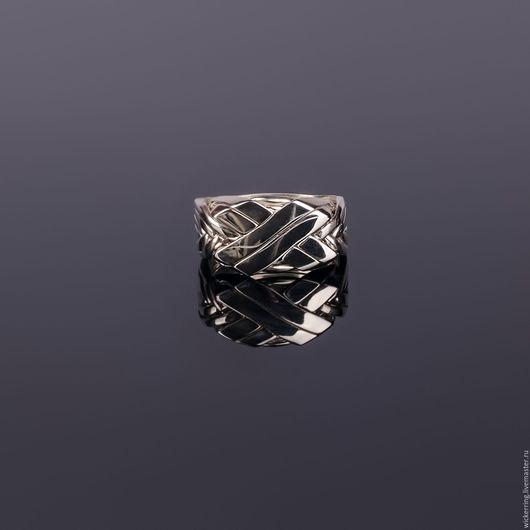 Серебряный перстень головоломка от WickerRing