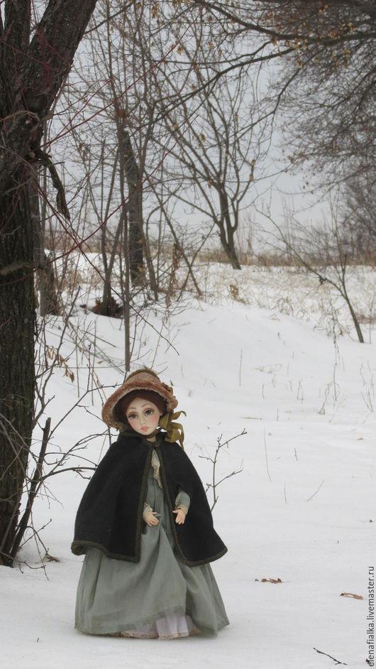 Коллекционные куклы ручной работы. Ярмарка Мастеров - ручная работа. Купить Джейн Эйр. Handmade. Оливковый, винтажный стиль, Ладолл