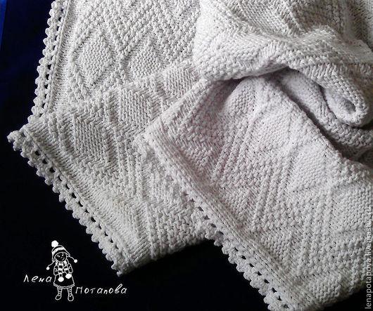 """Пледы и одеяла ручной работы. Ярмарка Мастеров - ручная работа. Купить Плед """"Мамино облачко"""". Handmade. Белый, на крестины, для прогулок"""