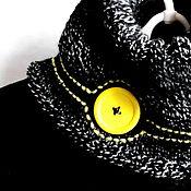 Шарфы ручной работы. Ярмарка Мастеров - ручная работа Шарф снуд женский вязаный полушерстяной Немного жёлтого. Handmade.