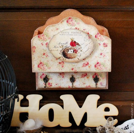 """Прихожая ручной работы. Ярмарка Мастеров - ручная работа. Купить """"Дворянское гнездо"""" ключница с конвертом. Handmade. Бежевый, уютный дом"""
