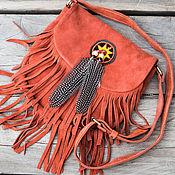 Сумки и аксессуары handmade. Livemaster - original item Women`s bag made of genuine leather Mauri . Suede bag. Handmade.