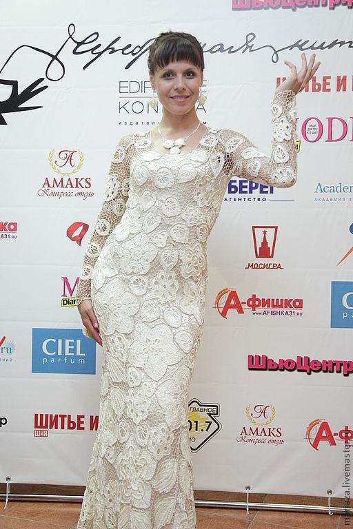"""Платья ручной работы. Ярмарка Мастеров - ручная работа. Купить платье """"кружева"""". Handmade. Белый, вечернее платье"""
