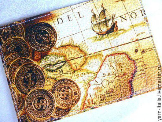 Обложка для паспорта Карта сокровищ. Подарок на 23 февраля.