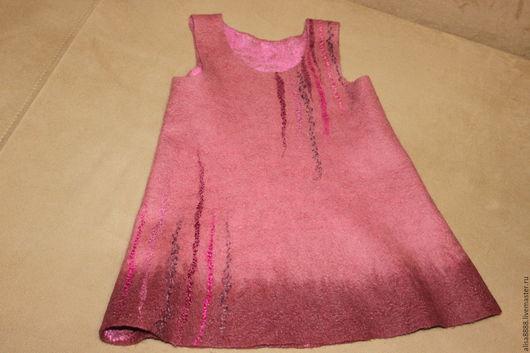 Одежда для девочек, ручной работы. Ярмарка Мастеров - ручная работа. Купить валяный сарафан Ягодный десерт. Handmade. Цветочный, шерсть
