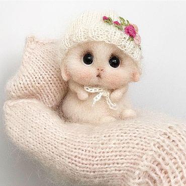 Куклы и игрушки ручной работы. Ярмарка Мастеров - ручная работа Зайка цвета пудры. Handmade.