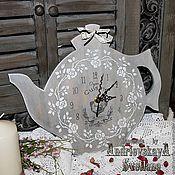 Для дома и интерьера ручной работы. Ярмарка Мастеров - ручная работа Часы-чайник Прованс. Handmade.