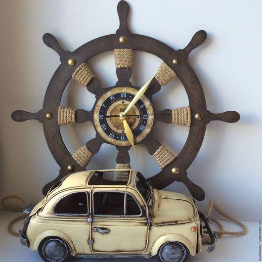 """Часы для дома ручной работы. Ярмарка Мастеров - ручная работа. Купить Часы """"Штурвал"""" настенные. Handmade. Часы интерьерные"""