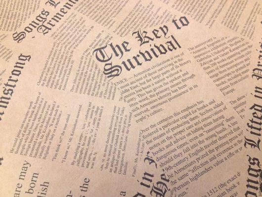 Упаковка ручной работы. Ярмарка Мастеров - ручная работа. Купить Крафт-бамага Газета черная 70х100 см. Handmade.