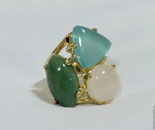 Кольца ручной работы. Ярмарка Мастеров - ручная работа. Купить кольцо с натуральными камнями. Handmade. Комбинированный, уникальный подарок