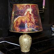 """Для дома и интерьера ручной работы. Ярмарка Мастеров - ручная работа Лампа """"Сказочные единороги"""". Handmade."""