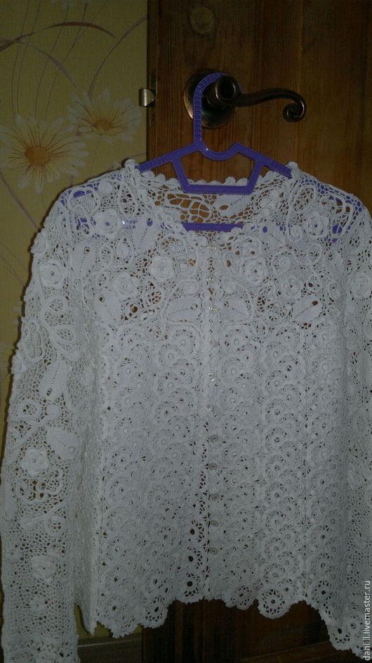 """Блузки ручной работы. Ярмарка Мастеров - ручная работа. Купить блуза, ирландское кружево """"нежность"""". Handmade. Белый, хлопок мерсеризованный"""