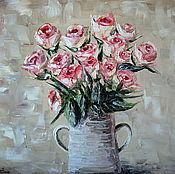 """Картины и панно ручной работы. Ярмарка Мастеров - ручная работа """"Букет роз"""" - 40х50 см - Картина маслом. Handmade."""