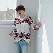 """Одежда ручной работы. Ярмарка Мастеров - ручная работа Пуловер """"Весенний"""". Handmade."""