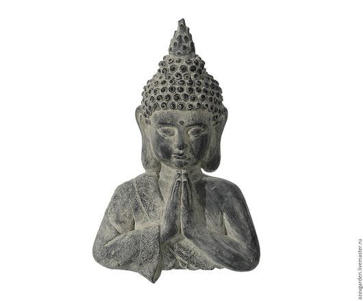 Статуэтки ручной работы. Ярмарка Мастеров - ручная работа. Купить Статуэтка-панно Будда большая из бетона серая с запылением. Handmade.