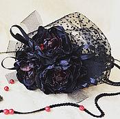 Украшения ручной работы. Ярмарка Мастеров - ручная работа Вуалетка на ободке с пионами. Handmade.