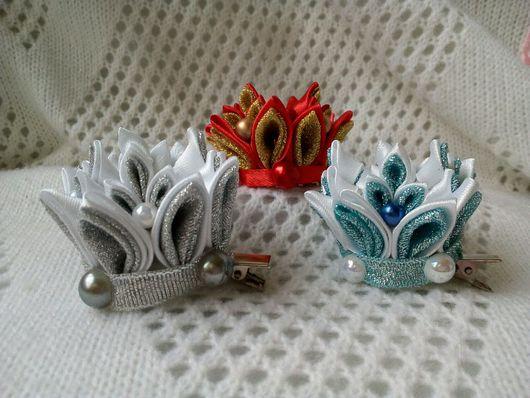 """Детская бижутерия ручной работы. Ярмарка Мастеров - ручная работа. Купить Заколка """"Корона"""". Handmade. Корона, корона маленькая"""