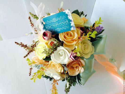 Свадебные цветы ручной работы. Ярмарка Мастеров - ручная работа. Купить Свадебный букет-дублёр. Handmade. Бежевый, фоамиран