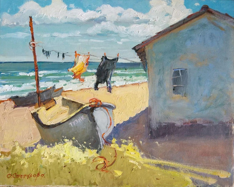 """Картина маслом """"Домик рыбака."""", Картины, Севастополь,  Фото №1"""