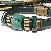 Украшения handmade. Livemaster - original item Bracelet Regaliz Green Marble. Handmade.