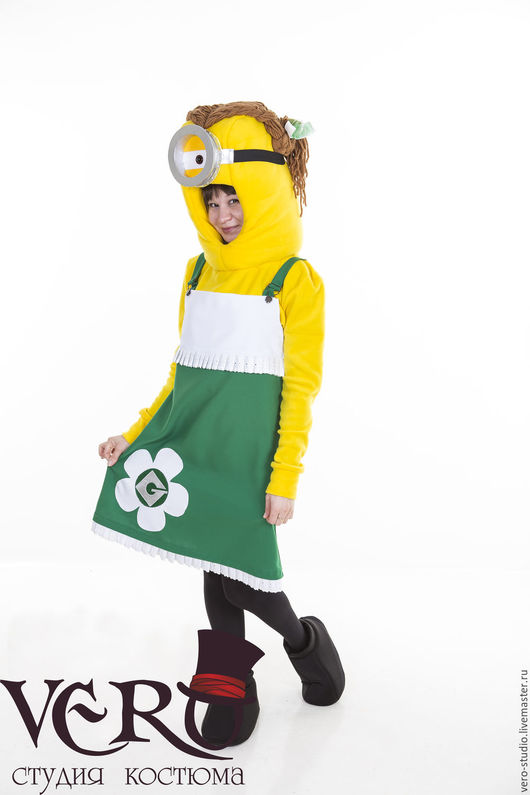 Карнавальные костюмы ручной работы. Ярмарка Мастеров - ручная работа. Купить Костюм миньона зеленый. Handmade. Зеленый, карнавальный костюм