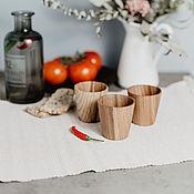 Посуда handmade. Livemaster - original item Set of Wooden wine glasses (3#15. Handmade.