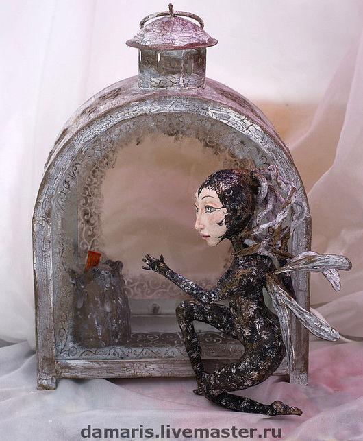 Коллекционные куклы ручной работы. Ярмарка Мастеров - ручная работа. Купить Мотылек. Handmade. Кукла, коллекционная кукла, декупаж