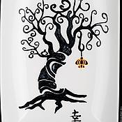 """Посуда ручной работы. Ярмарка Мастеров - ручная работа Интерьерная тарелка """"Японский иероглиф счастье"""". Handmade."""