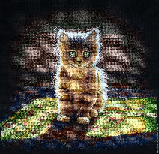 Животные ручной работы. Ярмарка Мастеров - ручная работа. Купить Котенок. Handmade. Черный, картина в подарок, котенок, пушистый котенок