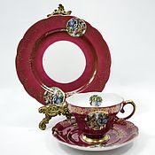 handmade. Livemaster - original item Tea Cup saucer plate porcelain Fragonard Germany. Handmade.