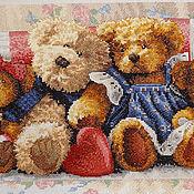 Картины и панно ручной работы. Ярмарка Мастеров - ручная работа A Row of Love (Мишки). Handmade.