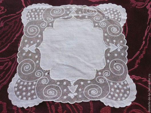 Винтажная одежда и аксессуары. Ярмарка Мастеров - ручная работа. Купить Старинный носовой платок, вышивка ручной работы. Handmade.