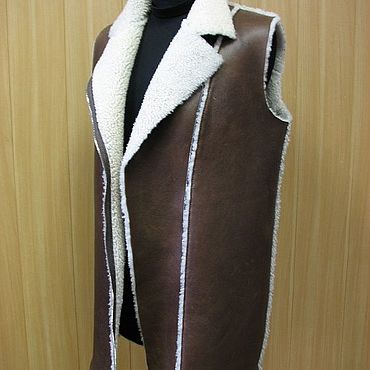 Clothing handmade. Livemaster - original item Vest of genuine sheepskin. Handmade.