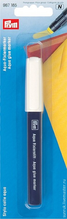 Шитье ручной работы. Ярмарка Мастеров - ручная работа. Купить Клеевой аква-маркер для ткани, Prym. Handmade. Желтый