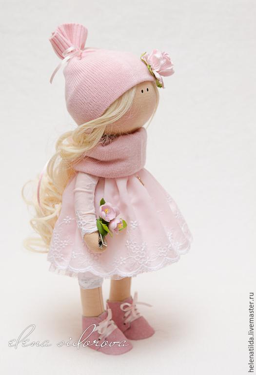 Коллекционные куклы ручной работы. Ярмарка Мастеров - ручная работа. Купить Бэлла. Handmade. Кукла, текстильная кукла, бледно-розовый