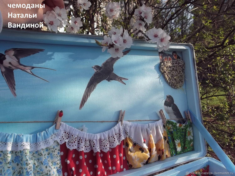"""Чемодан """"Ласточка с весною в сени к нам летит."""""""