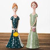 """Куклы и игрушки ручной работы. Ярмарка Мастеров - ручная работа Кукла-колокольчик """"Девушка в платье в горошек"""". Handmade."""