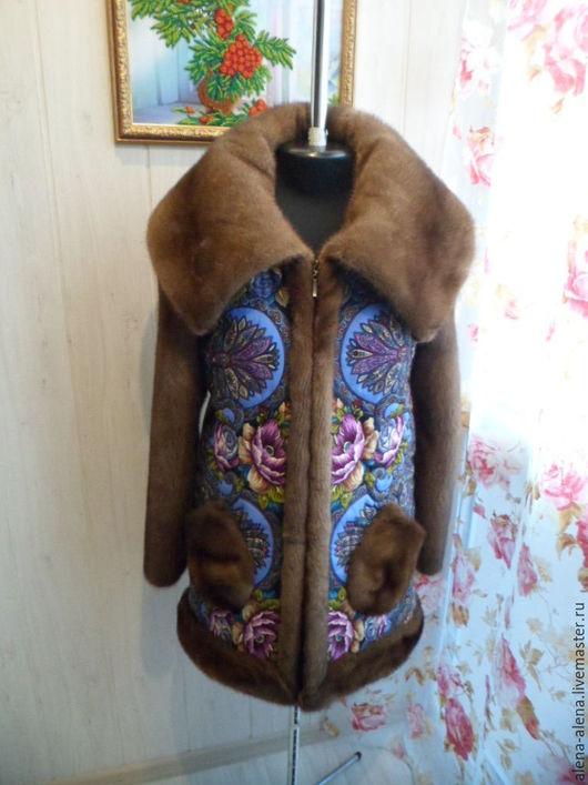 """Верхняя одежда ручной работы. Ярмарка Мастеров - ручная работа. Купить Зимнее пальто """"Снежный замок"""".. Handmade. Комбинированный"""