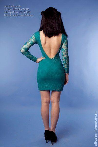 Платья ручной работы. Ярмарка Мастеров - ручная работа. Купить Платье из кружева ( гипюра) с открытой спиной ( вырезом). Handmade.