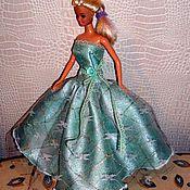 Куклы и игрушки handmade. Livemaster - original item Doll clothes 1/6 - turquoise ball gown (size Barbie). Handmade.