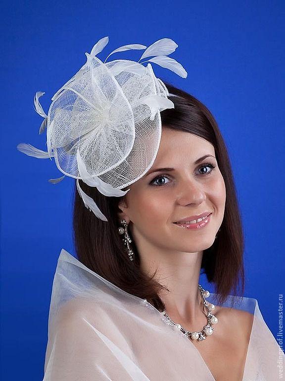 Шляпка невесты на ободке мастер класс сделай сам #14