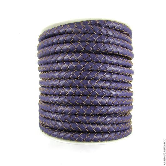 Для украшений ручной работы. Ярмарка Мастеров - ручная работа. Купить 6 мм, плетеный кожаный шнур, из натуральной кожи. Handmade.