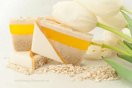 Овсяное мыло с мёдом, 150р. за 100г